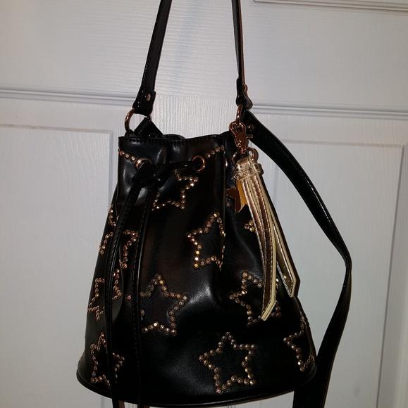 c8109f4784 Betsey Johnson Handbags - Betsey johnson gold studded star bucket bag